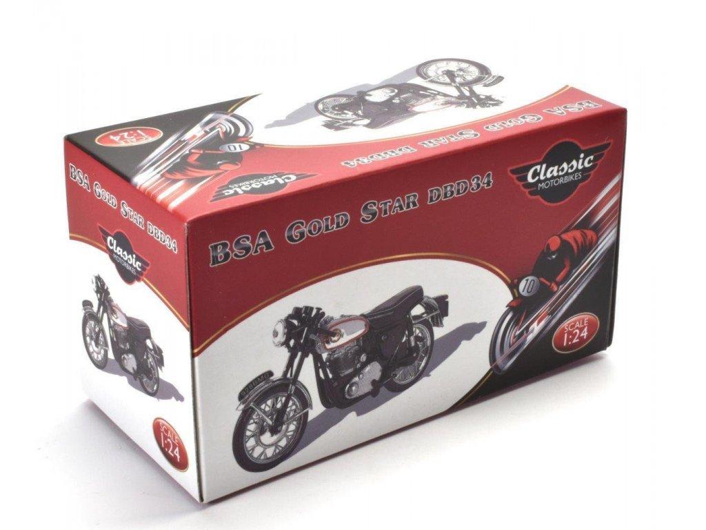 1:24 Atlas мотоцикл BSA Gold Star DBD34 1960 черный