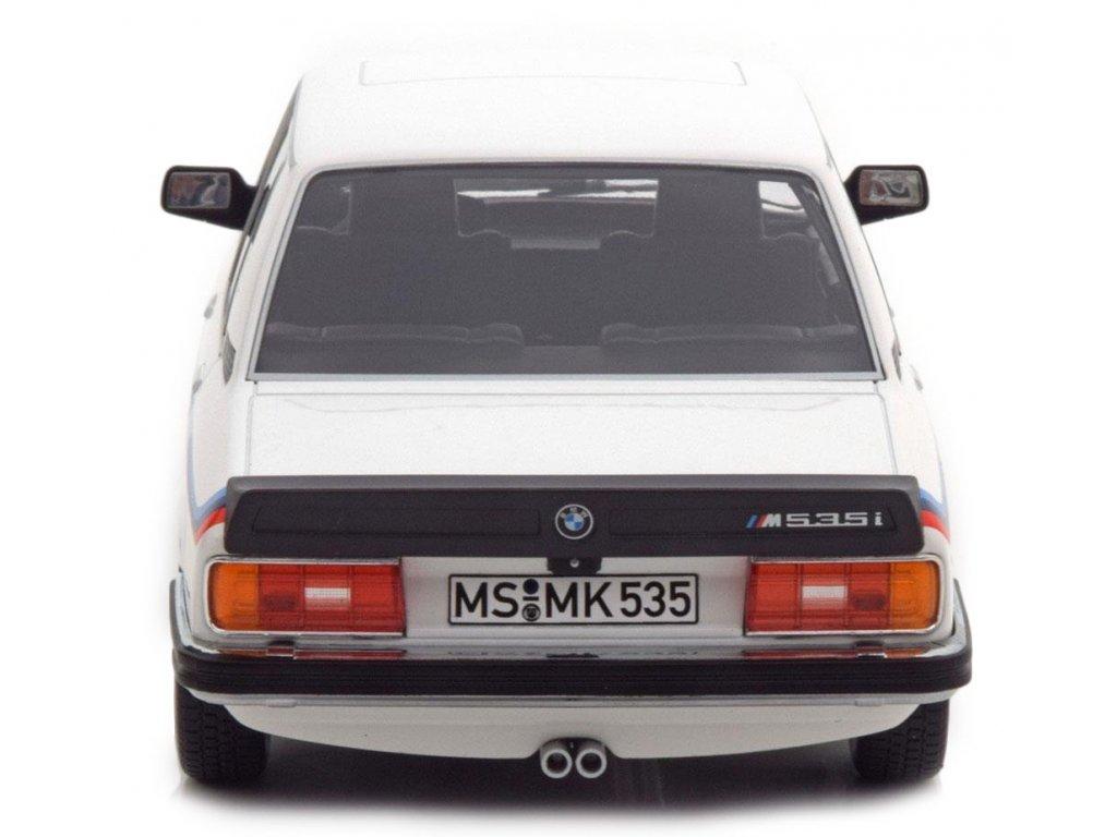 1:18 Norev BMW M535i E12 1980 белый с М-полосками