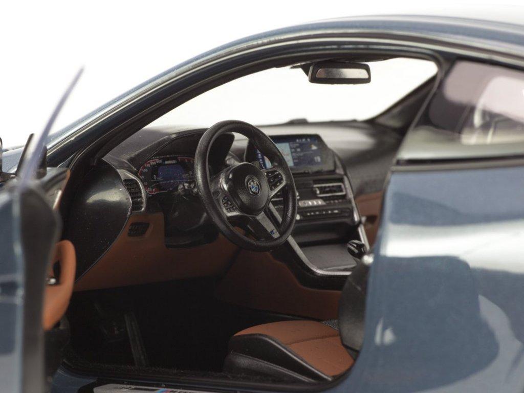 1:18 Norev BMW 8 Series Coupe 2019 G15 barcelona blue серый металлик