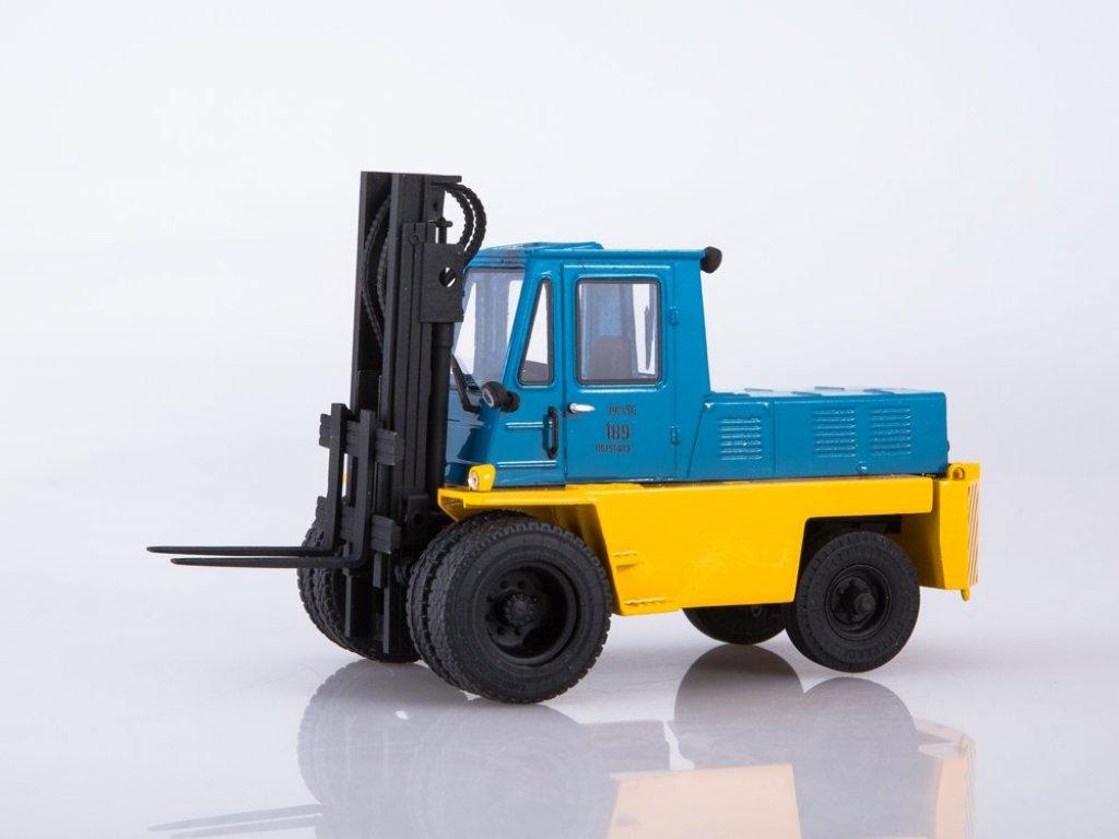 1:43 ModelPro Львовский автопогрузчик АП-4014 желтый с синим