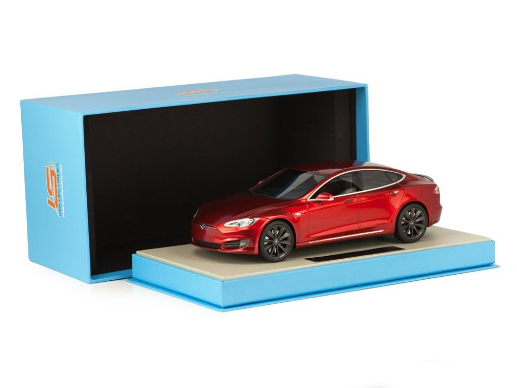 1:18 LS Collectibles Tesla Model S Facelift 2016 красный