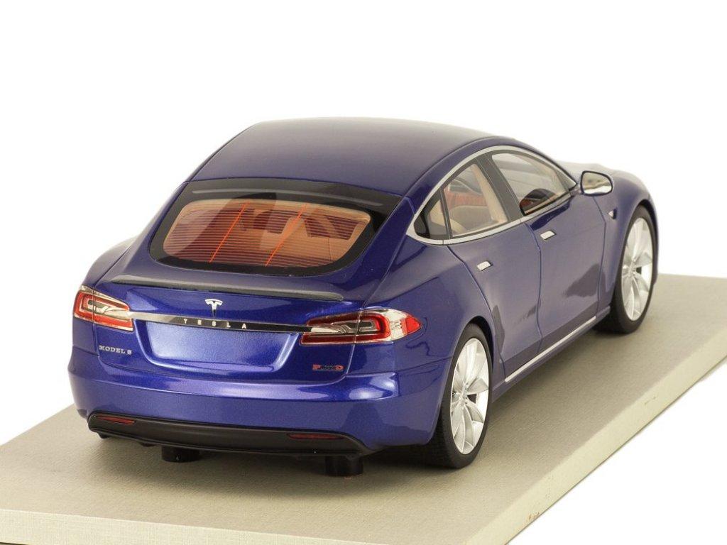 1:18 LS Collectibles Tesla Model S Facelift 2016 синий