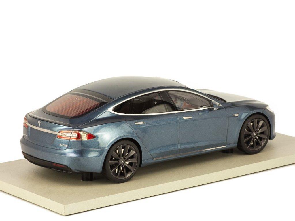 1:18 LS Collectibles Tesla Model S Facelift 2016 серый