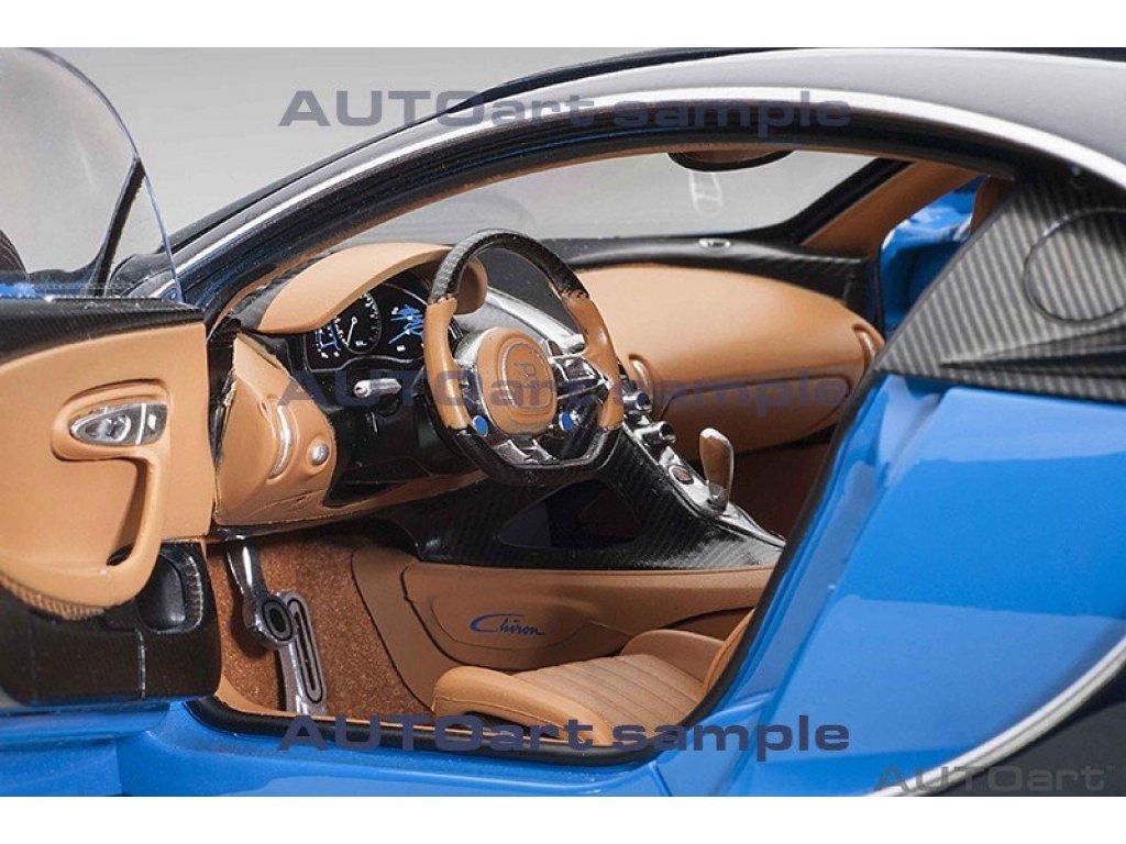 1:18 AUTOart Bugatti Chiron 2017 синий с черным