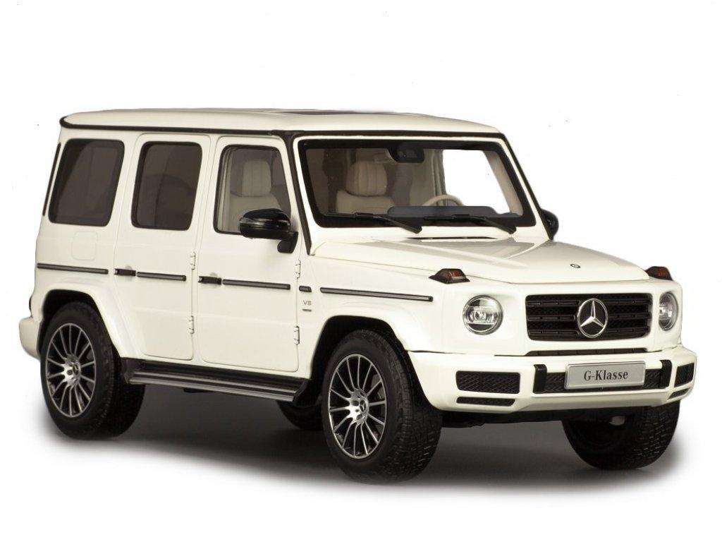 1:18 Minichamps Mercedes-Benz G500 (W463 II) 2019 Stronger Than Time. Cпециальное издание к 40-летию G-class. Белый бриллиант.