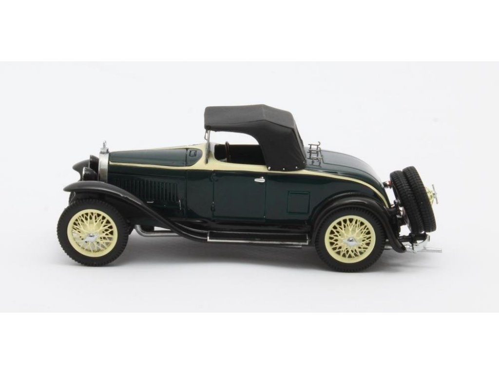 1:43 Matrix Bugatti Type 40 Roadster закрытый 1929 черный с желтым