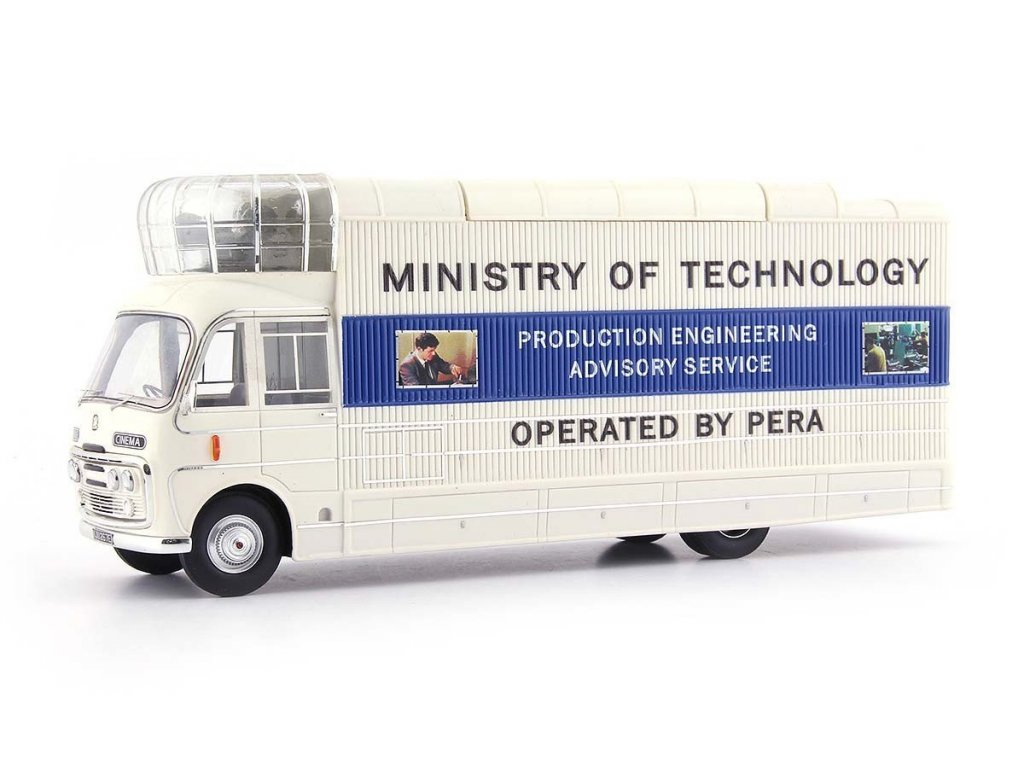 1:43 AutoCult Bedford SB3 Mobile Cinema 1967 (Мобильный кинотеатр The Ministry of Technology) бежевый с синим