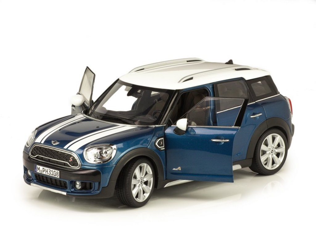 1:18 Norev MINI Cooper S Countryman F60 голубой металлик