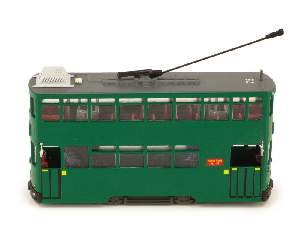 1:72 Atlas трамвай 6Th Generation Hong Kong Tram 1986 зеленый