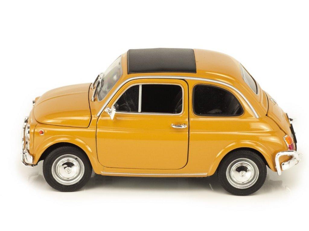1:18 Welly Fiat 500 1968 желтый