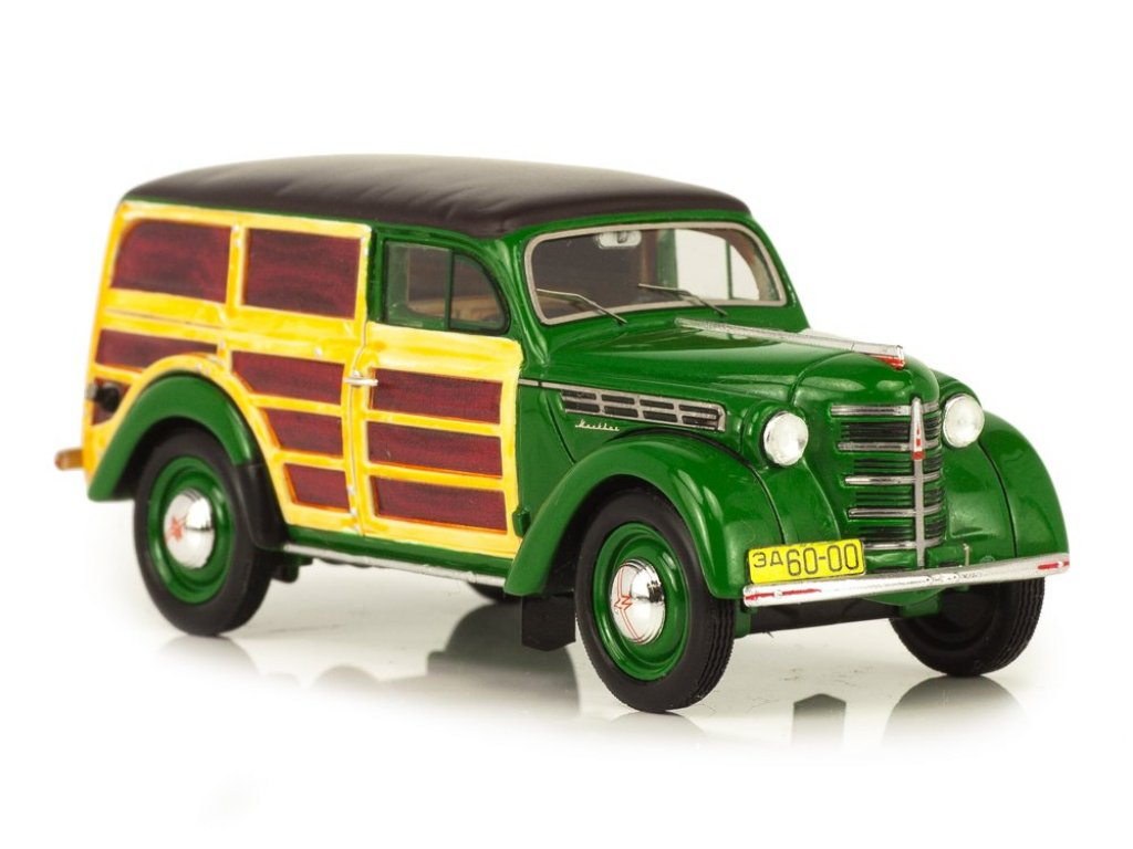 1:43 Набор Набор DiP Москвич 401-422 Буратино зеленый фургон + Prommodel43 Москвич 2150 1973 охра