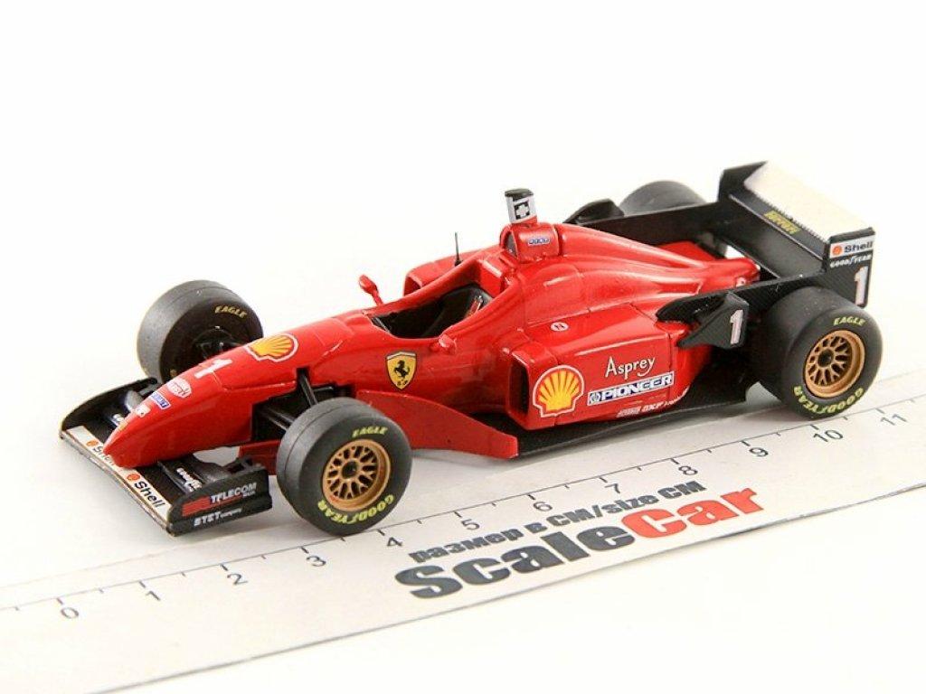 1:43 Набор Набор из 3-х Ferrari F1 победителей: F310 #1 M.Schumacher '96, F1/87 #28 G.Berger '87 и 500F2 #102 A.Ascari '52