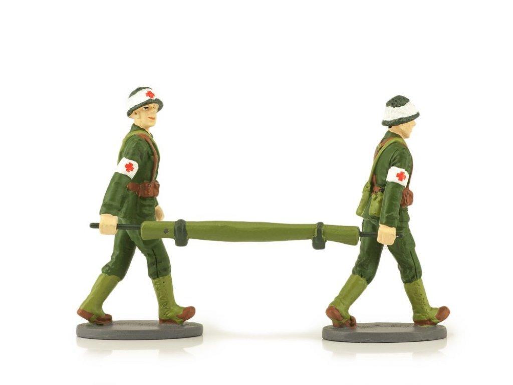 1:43 Altaya 2 Французских военных санитара с носилками