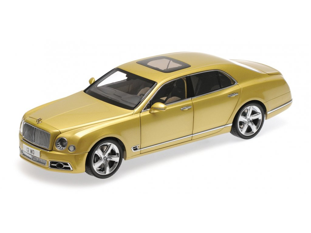 1:18 Almost Real Bentley Mulsanne Speed 2017 золотистый