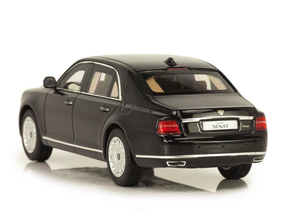 1:43 DiP Models Aurus Senat S600 2018 ГОН бронированный черный