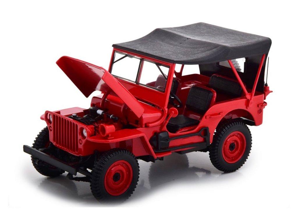 1:18 Norev Jeep Willys 1942 красный