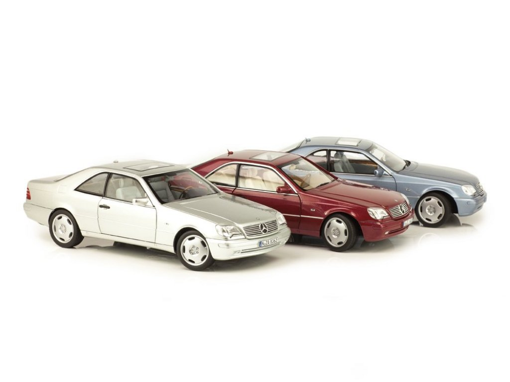 1:18 Norev Mercedes-Benz CL600 C140(W140) 1996 голубой