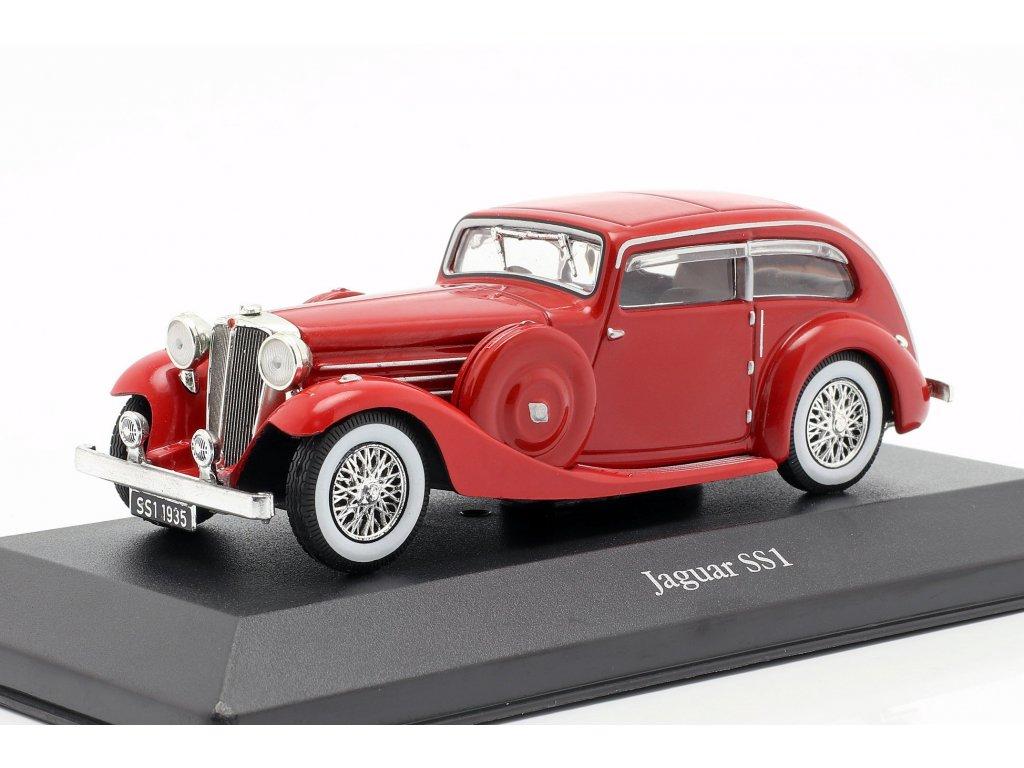 1:43 Atlas Jaguar SS1 Airline 1937 красный