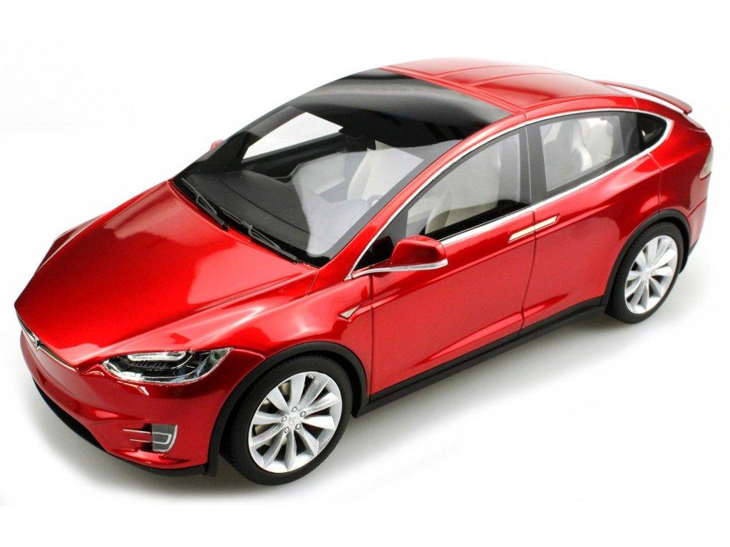 1:18 LS Collectibles Tesla Model X 2016 красный металлик
