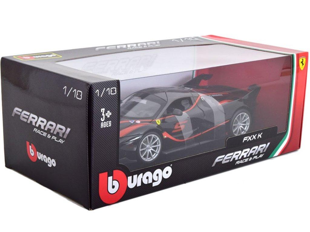 1:18 BBurago Ferrari FXX K #5 2018 черный