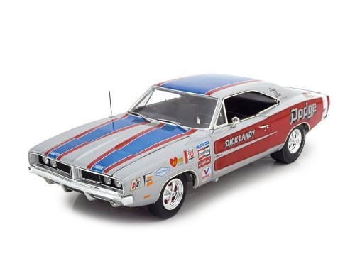 1:18 Auto World Dodge Charger R/T 1969 Dick Landy серебристый с красным и синим