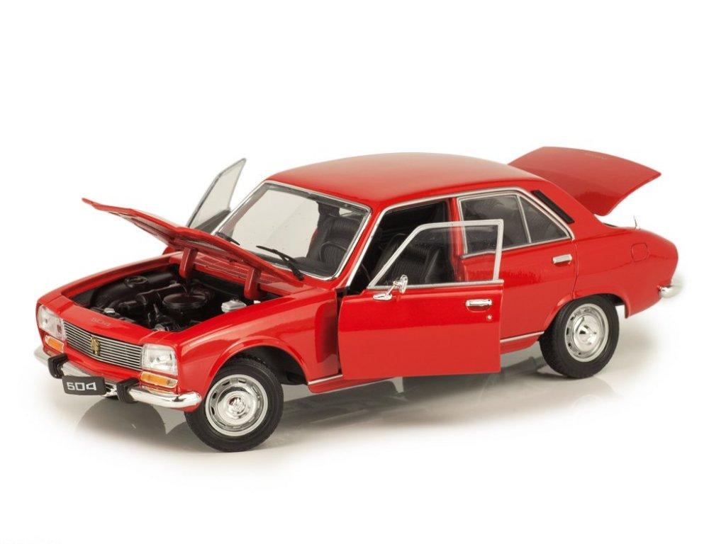 1:18 Welly Peugeot 504 1974 красный
