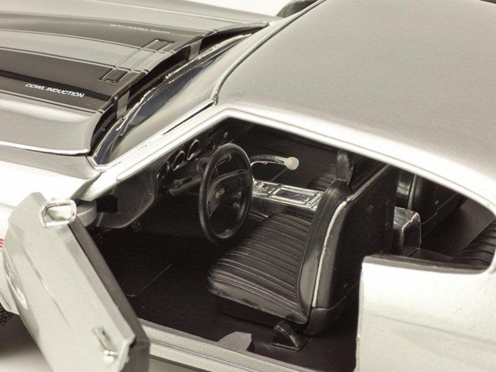 1:18 Welly Chevrolet Chevelle SS454 1970 серебристый с серым