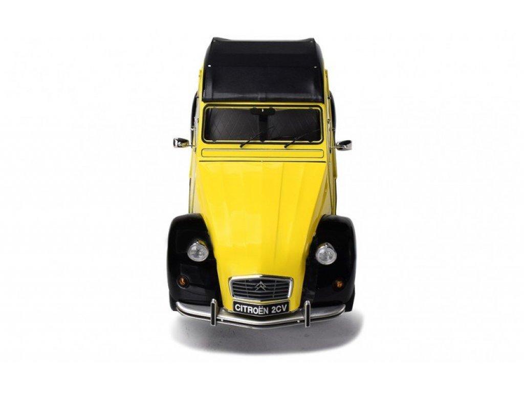 1:8 PremiumX Citroen 2CV Charleston желтый с черным