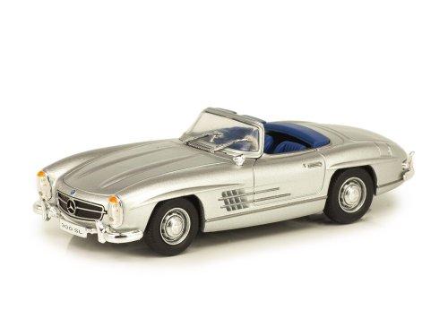 1:43 IXO Mercedes-Benz 300SL Roadster W198 (1957-1963) серебристый
