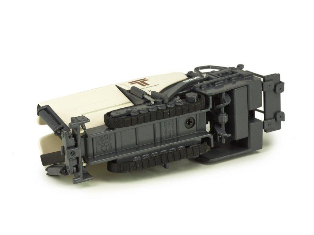 1:50 NZG Асфальтоукладчик Vögele Super 800 Small Paver Traunfellner серый с бежевым