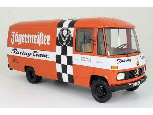 1:18 Premium ClassiXXs Mercedes-Benz L408 1972 (T2) фургон Jagermeister оранжевый с белым