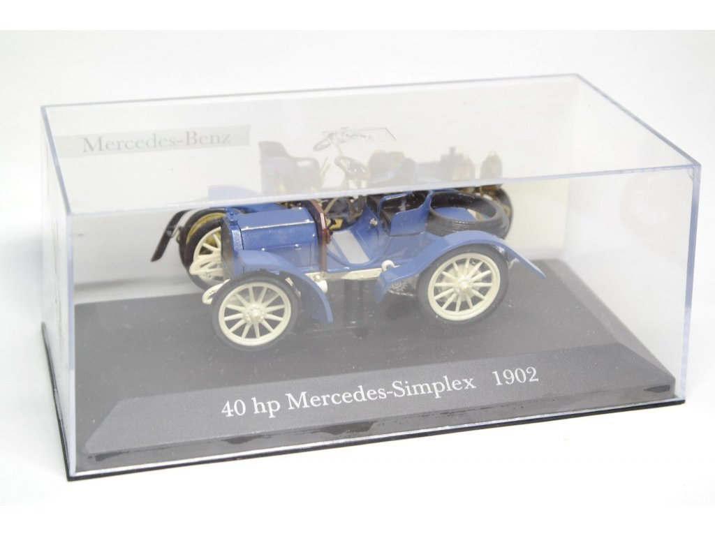 1:43 Altaya Mercedes Simplex 40 PS 1902 синий с белым