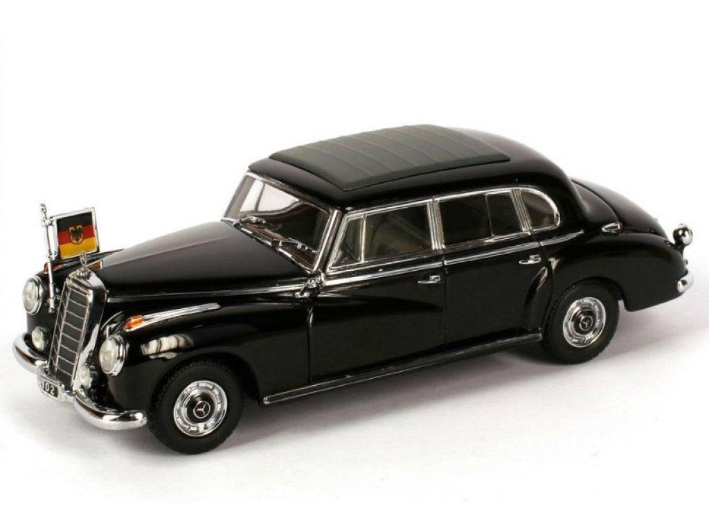 1:43 Minichamps Mercedes-Benz 300b Adenauer W186 черный, персональный автомобиль Конрада Аденауэра
