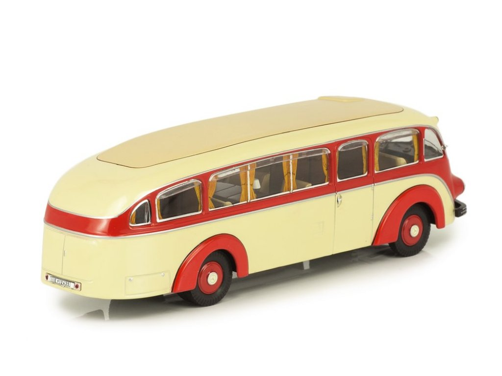 1:43 Premium ClassiXXs Mercedes-Benz LO3500 streamline bus, beige-red 1935