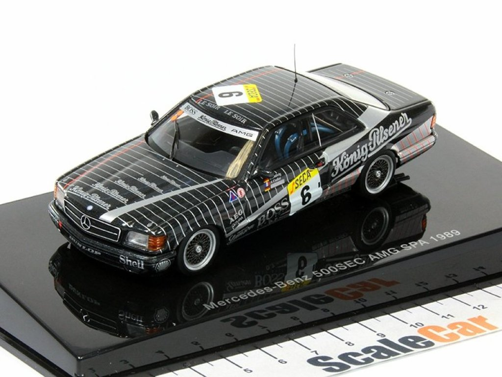 1:43 AUTOart Mercedes-benz 500 SEC W126 AMG 24 Hrs Race SPA Francorchamps Ludwig/Cudini/Müller 1989 #6