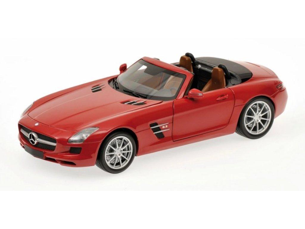 1:18 Minichamps Mercedes-Benz SLS-AMG Roadster R197 2011 красный металлик
