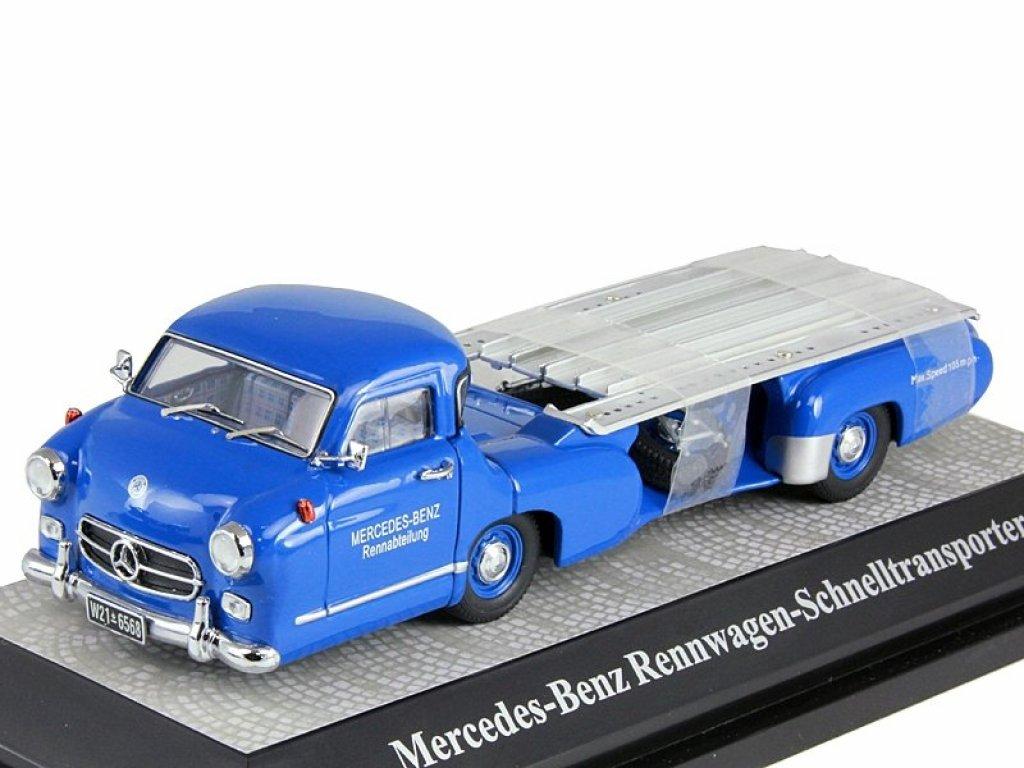 1:43 Premium ClassiXXs Mercedes-Benz Renntransporter Blue Wonder