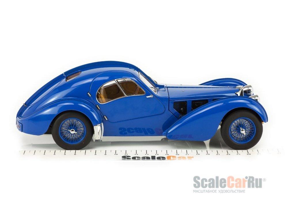 1:18 AUTOart Bugatti Atlantic 57S 1936 синий с синими спицованными колесами