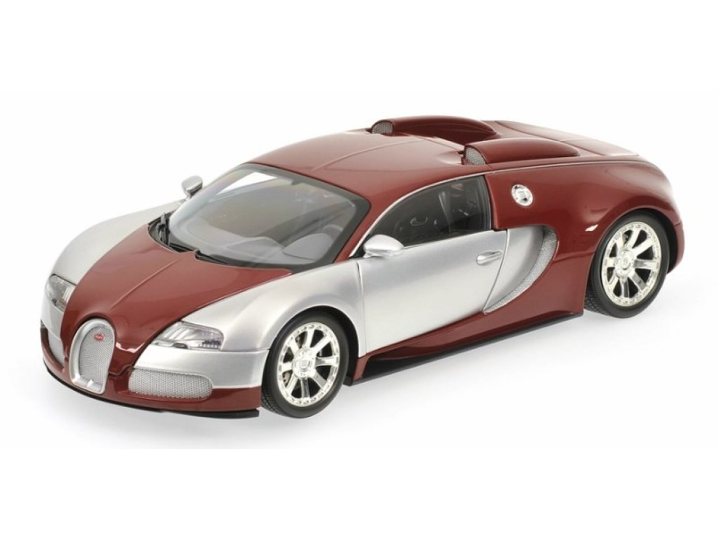 1:18 Minichamps Bugatti VEYRON EDITION CENTENAIRE - 2009 - CHROME/RED