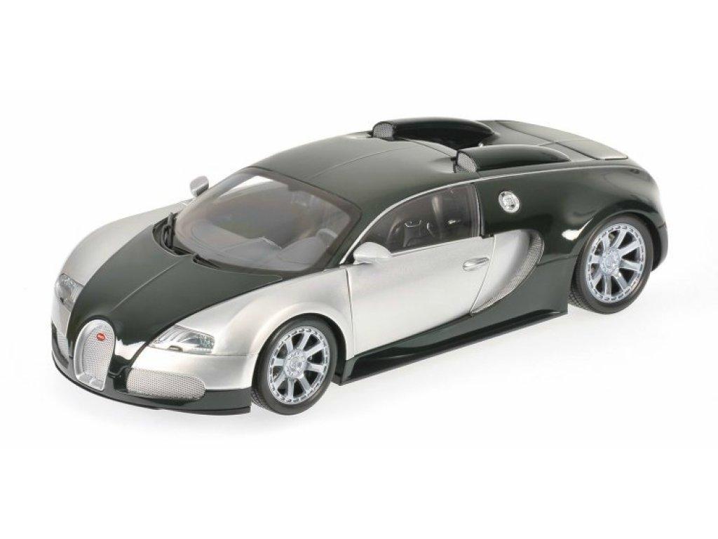 1:18 Minichamps Bugatti VEYRON EDITION CENTENAIRE - 2009 - CHROME/GREEN