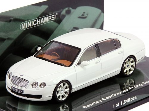 1:43 Minichamps Bentley Continental Flying Spur 2005 белый