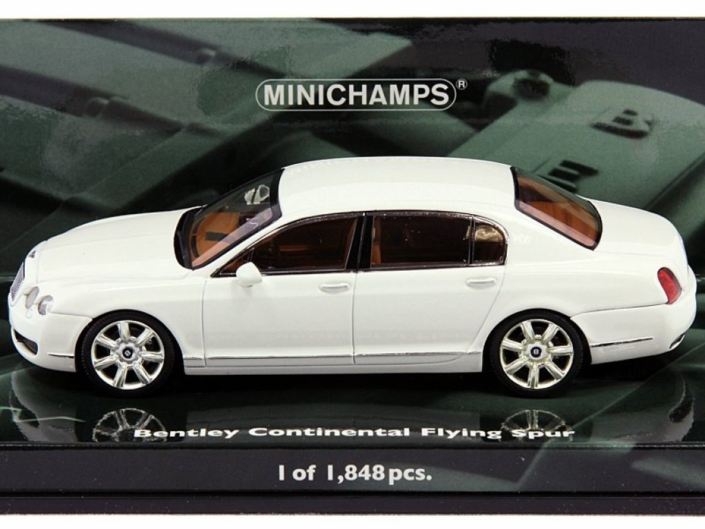 1:43 Minichamps BENTLEY CONTINENTAL FLYING SPUR 2005 White