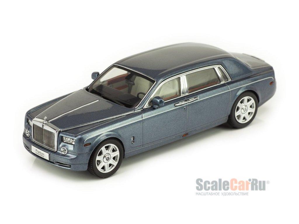 1:43 Kyosho Rolls Royce Phantom EWB 2003 Linar Blue